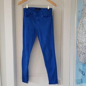 J Brand Blue velvet pants